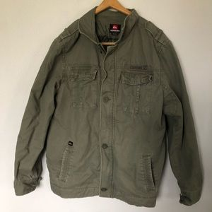 QUICKSILVER Military Olive Green Coat